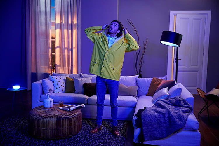 Das Philips Hue Lichtsystem erlaubt das Gestalten von eigenen Lichtstimmungen