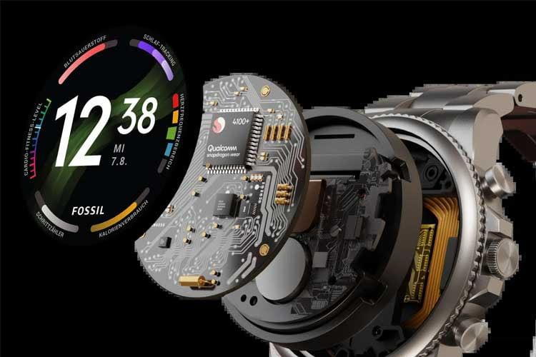 Die Fossil Smartwatch Generation 6 arbeitet mit der Snapdragon Wear 4100+ Plattform