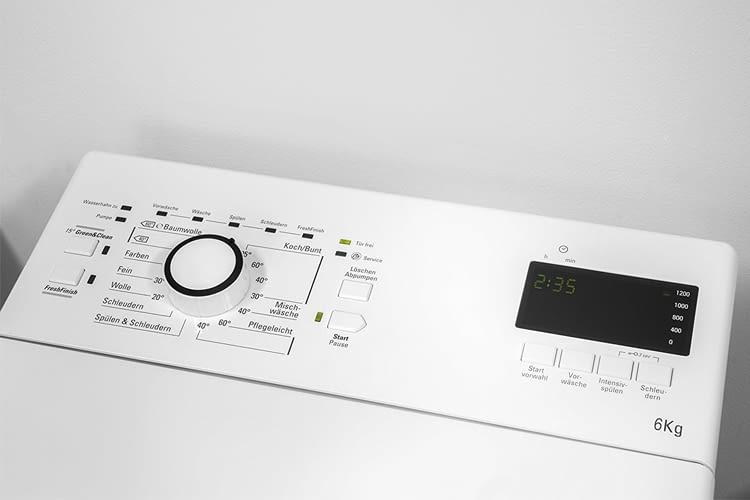 Die elektronische Kindersicherung verhindert versehentliches Ändern der Programme während des Waschens