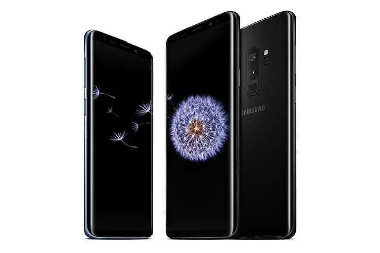 Samsung Galaxy S9 mit OLED-Display in der Farbe Midnight Black