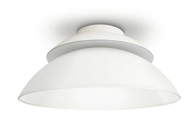 Die Philips Hue White and Color Ambiance Beyond Deckenleuchte bietet integrierte LEDs, die unabhängig voneinander einstellbar sind