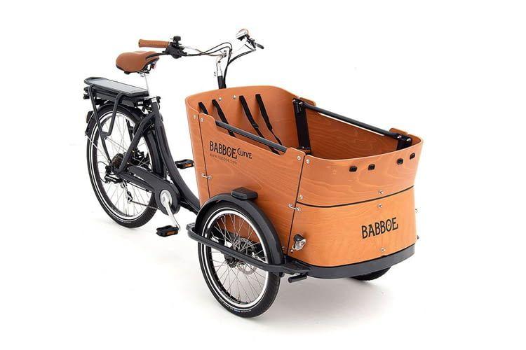 Vor Diebstahl sichern lässt sich dieses Lastenrad per ABUS Rahmenschloss mit ART-Gütesiegel