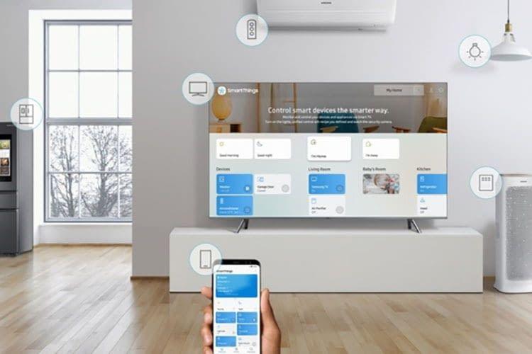 Mit der SmartThings App von Samsung können Nutzer eines Galaxy S9 Smartphones ihren Samsung TV einrichten