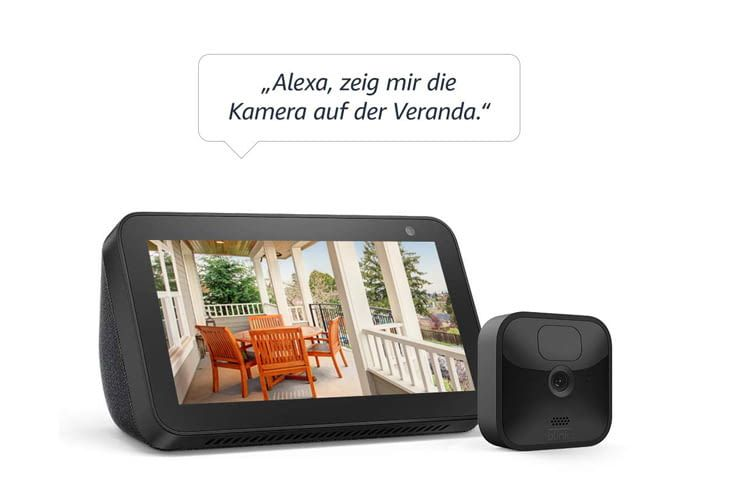 Alexa Besitzer profitieren besonders von der Blink Outdoor Kamera