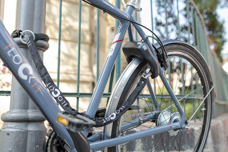 Mit dem Smartphone verbinden kann man das I LOCK IT Fahrradschloss