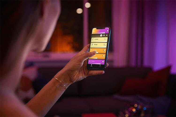 Mit der neuen Bluetooth App können Nutzer künftig auf die Philips Hue Bridge für die Lichtsteuerung verzichten