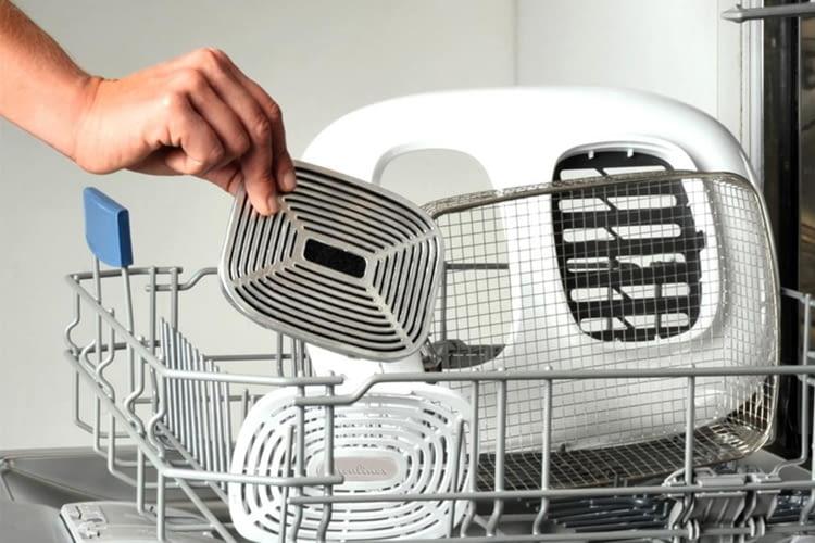 Viele Bestandteile der Fritteuse sind spülmaschinengeeignet
