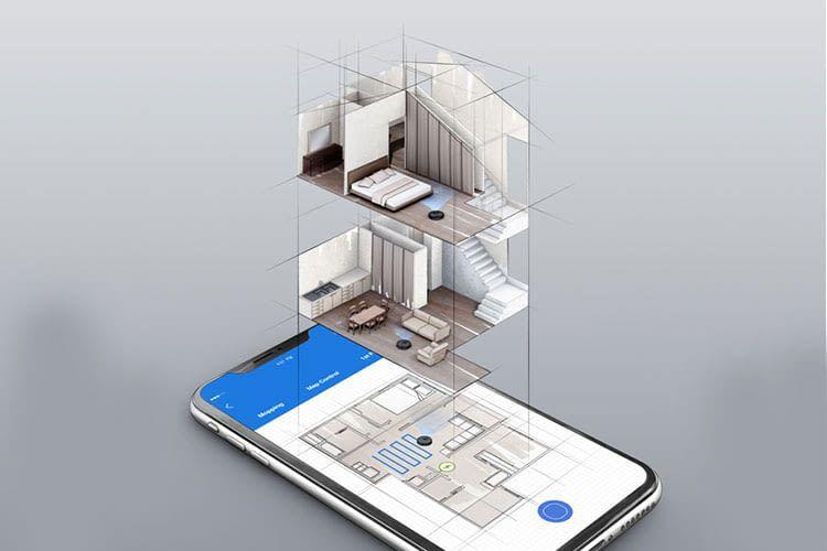Die vom Saugroboter erstellten Karten der verschiedenen Etagen sind per App einsehbar