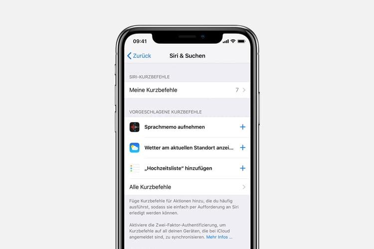 Der Aufruf von Lieblingsapps ist dank Siri Shortcuts noch schneller möglich