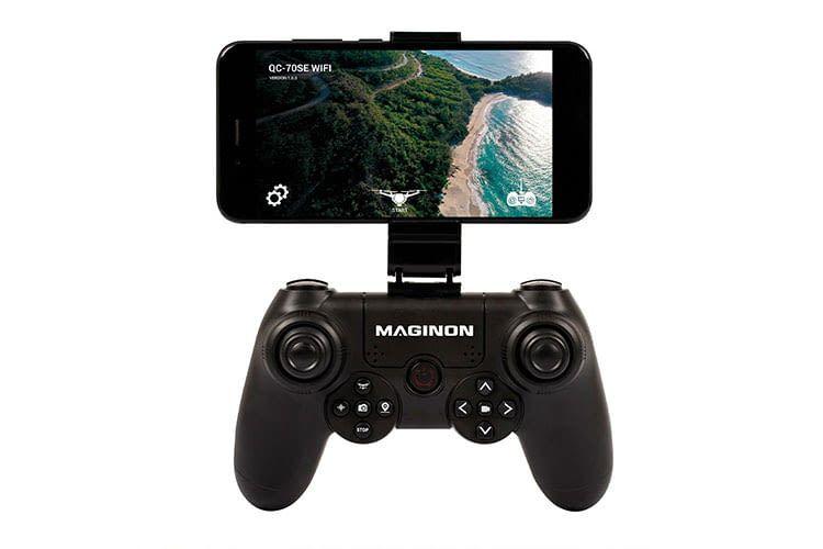 Aldi Deal: Das Live-Bild der Maginon QC-70SE Wifi Drohne lässt sich aufs Smartphone streamen