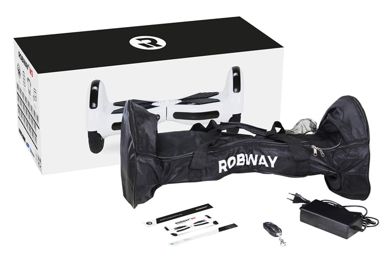 Lieferumfang des Robway W3 Hoverboard