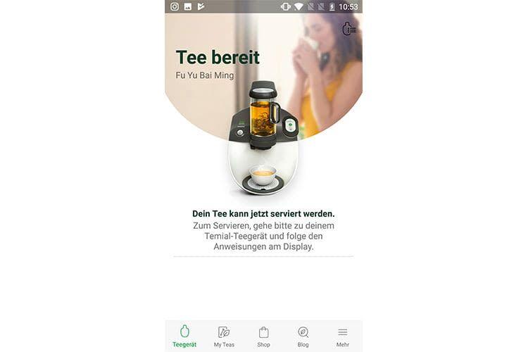 Wenn der Tee fertig ist bekommen Nutzer der Temial-App es auf ihrem Smartphone angezeigt