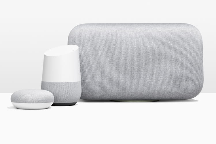 Google Lautsprecher-Familie: Google Mini, Google Home und Google Max