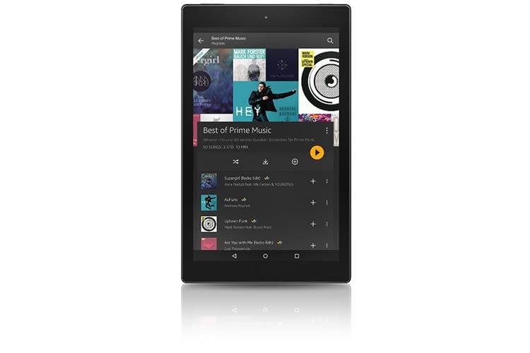 Amazon Music auf einem Tablet