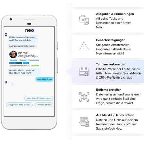 Sprachassistenz Neo erleichtert den Büroalltag mit digitaler Unterstützung