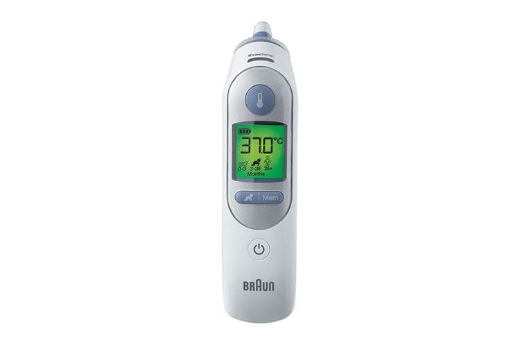 Das Braun ThermoScan 7 Infrarot-Thermometer bezieht das Alter in die Messergebnisse ein