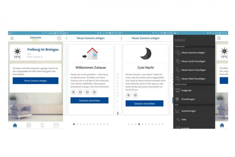 Szenarien machen das Smart Living System erst richtig praktisch, sie werden über die App erstellt