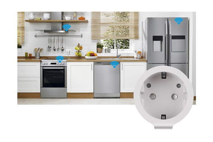 Über Alexa oder Google Assistant kann die WLAN-Steckdose mit weiteren Smart Home Geräten verbunden werden