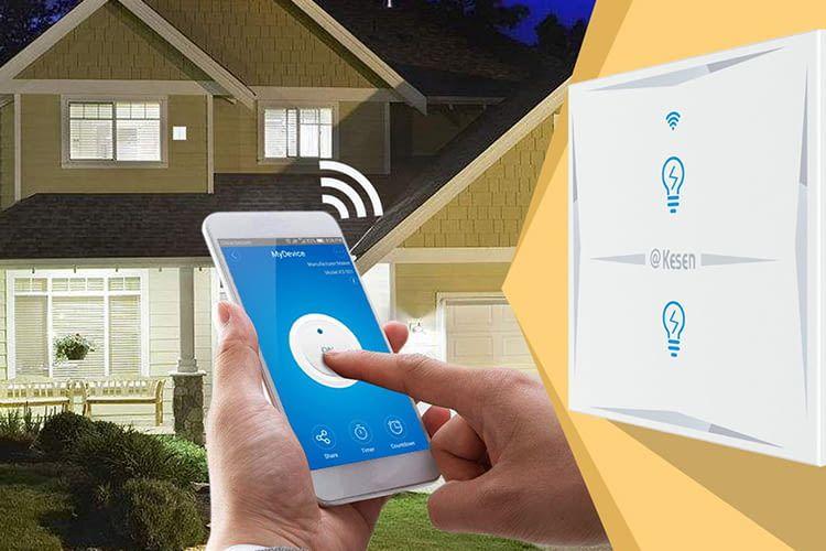 Mit dem Smartphone kann die Beleuchtung von überall aktiviert oder deaktiviert werden