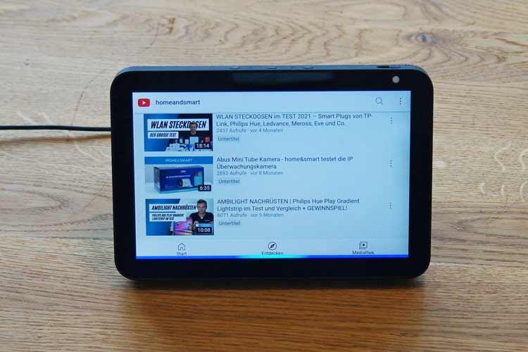 Alle home&smart-Videos lassen sich ganz einfach über Echo Show ansehen