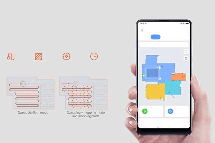 Der Saugroboter Xiaomi Mijia STYJ02YM wird bequem per Smartphone gesteuert