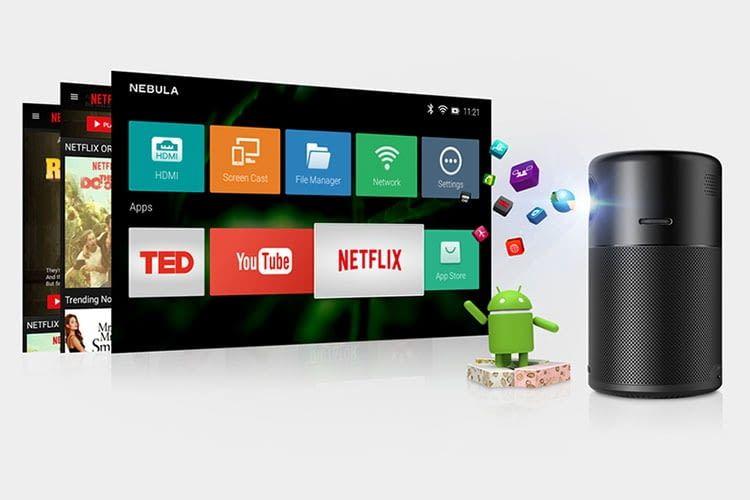 Der Mini-Beamer Anker Nebula Capsule ist auch ein 360 Grad-Lautsprecher mit Android OS