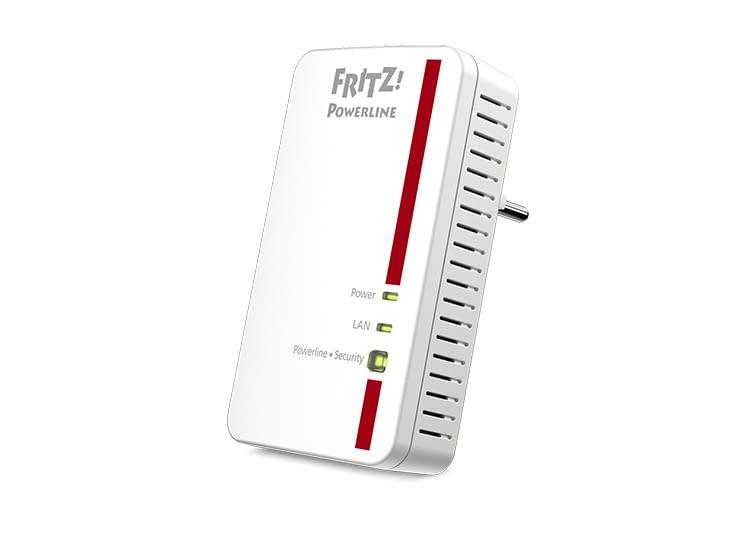 Der Fritz!Powerline 1000E Internetadapter bietet eine Datenübertragungsrate von bis zu 1200 MBit/s