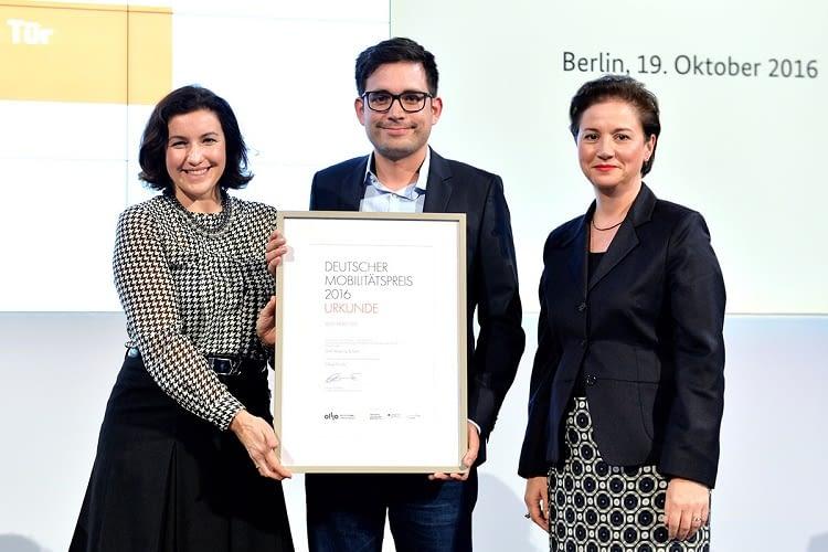 CleverShuttle gewann im letzten Jahr den deutschen Mobilitätspreis