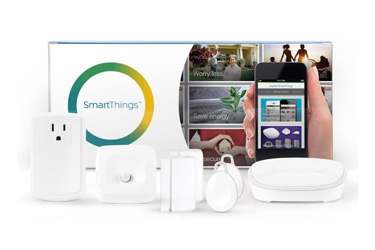 Samsung SmartThing StarterKits (hier die US-Version) gibt es in verschiedenen Varianten
