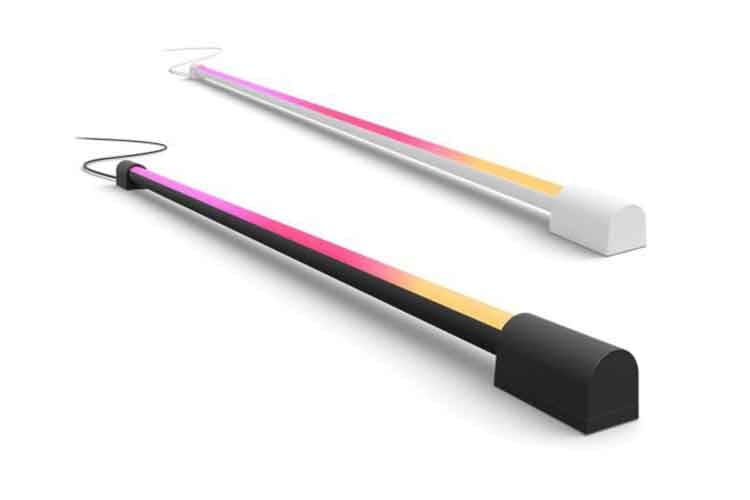 Der Philips Hue Play Gradient Light Tube kann sich mit Streaminginhalten am TV synchronsisieren