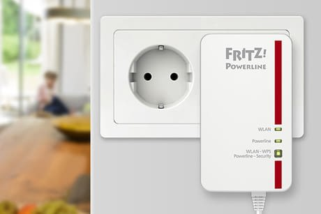 fritz powerline 1240e wlan adapter f r das netzwerk. Black Bedroom Furniture Sets. Home Design Ideas