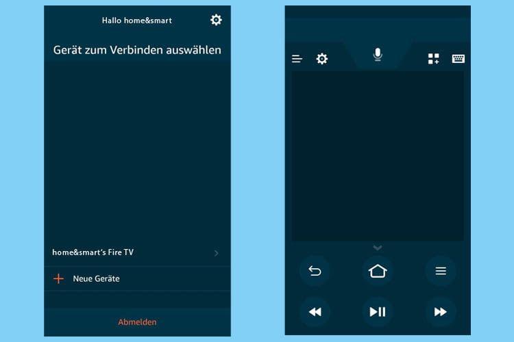 Über die Fire TV App können Nutzer das entsprechende Gerät auswählen und dann einfach bedienen