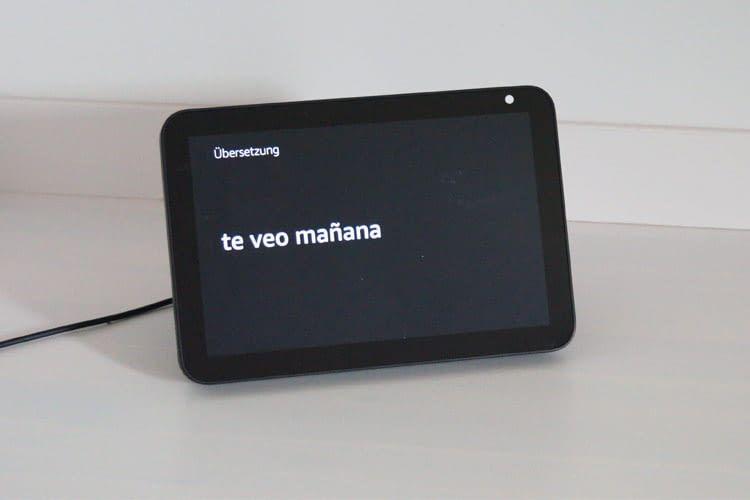Bei Nutzung eines Echo Shows profitiert man von der Textanzeige
