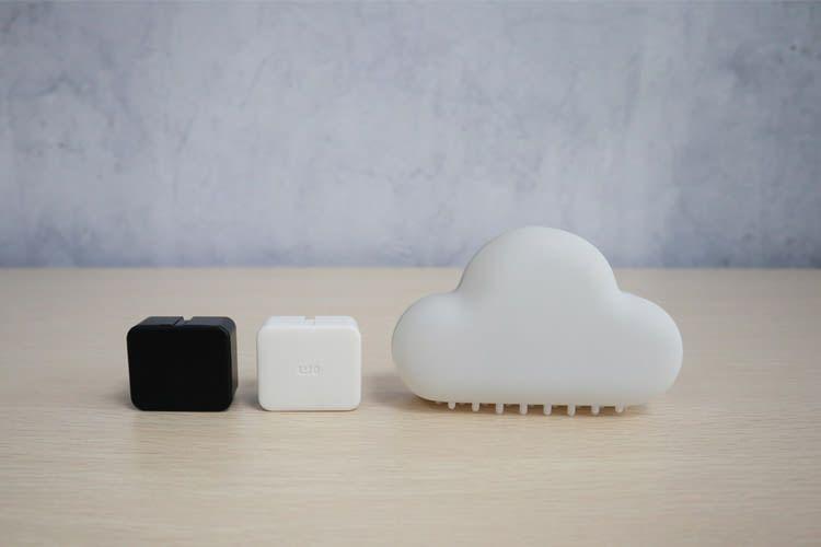 SwitchBot ist in weiß oder schwarz erhältlich und kann mit einem SwitchBot Hub Plus gekoppelt werden
