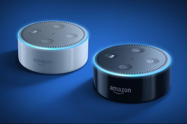 Echo Dot ist optisch schlichter als Google Home Mini