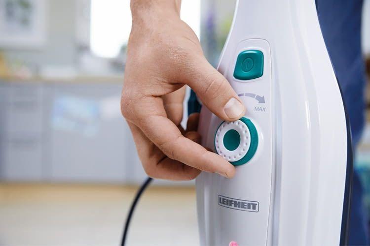 Die Festlegung der Dampfintensität erfolgt meist durch einen Drehregler
