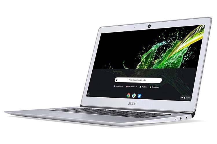 Das Acer Chromebook 14 bietet eine exzellente Akkulaufzeit von bis zu 10 Stunden