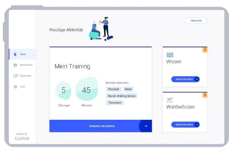 Die Patienten können Caspar Healths Angebote direkt in der App nutzen