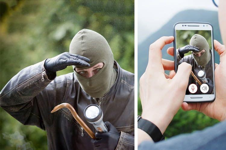 Einbrecherscreening per App mit IN-9008