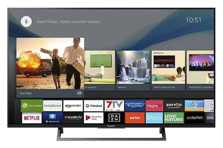 Sony Bravia KD-49XE8005 mit Android TV und integriertem Google Chromecast