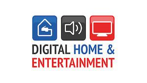 Logo des Digital Home & Entertainment Themenparks auf der Saarmesse 2015