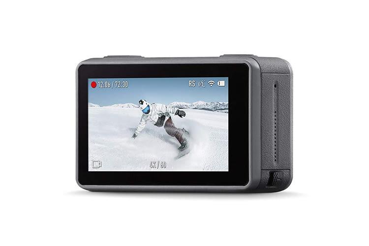 Der Hauptbildschirm von DJI Osmo Pocket ist 2,25 Zoll groß