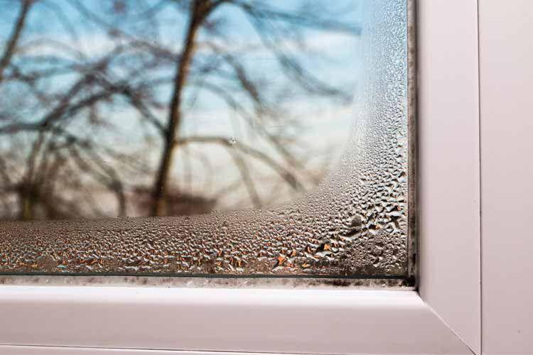 Feuchtigkeit schlägt sich oft an Fenstern nieder und lässt Dichtungen schimmeln