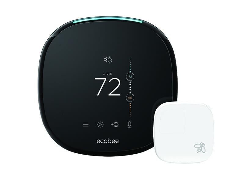Das smarte WLAN-Thermostat ecobee4 arbeitet mit externen Sensoren