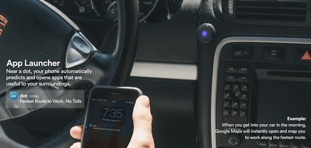 Dot Push Notification Button im Auto