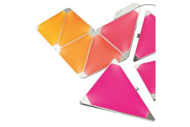 Aufgrund der dreieckigen Form sind Nanoleaf-Panele kreativ kombinierbar