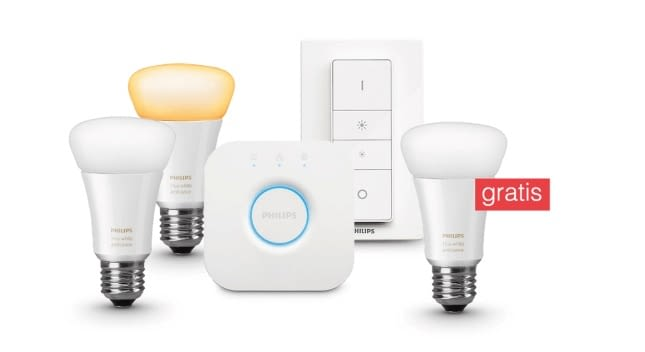 Philips Hue White Ambiance Starter Set + Gratis Philips Hue LED-Birne E27