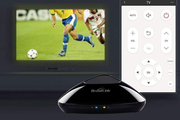 TV Funktionen lassen sich mit Broadlink einfach per dazugehöriger Smartphone App steuern