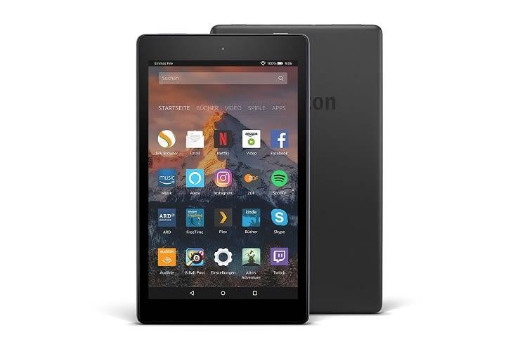 Das Fire HD Tablet ist mit 8GB oder 16GB Speicherplatz erhältlich