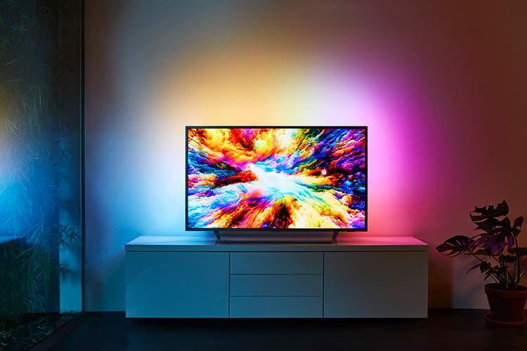 Kommt auch mit 43 Zoll-Display: Der Philips LCD-Fernseher 7303 mit Android und Google Assistant